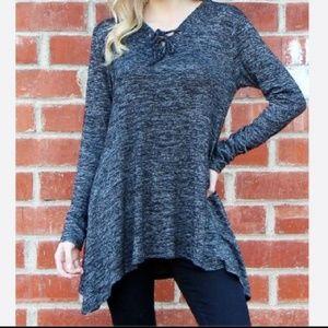 Tops - Black Knit tunic